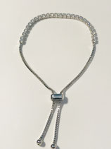 Silver and Crystal Tennis Style Bracelet