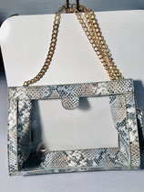 Clear Crossbody Snake Denim Purse