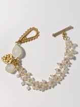 Moonstone and Gold Bracelet