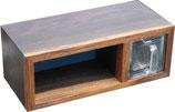 Kleine Glasschütte/wooden drawer
