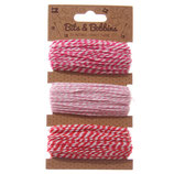 33 m ★Bäckergarn, Bakers Twine★ rot, rosa, pink