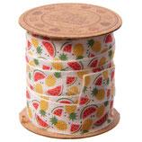 Grundpreis pro Meter = 0,75 € - Spule mit 3 m Baumwollband Tropic