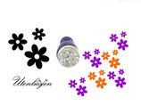 3er Blumen - mini Stempel