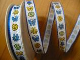 Grundpreis pro Meter = 0,95 € - 3m Schleifenband - Schmetterling, Herz, Blume.