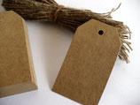 25 St. 4x7 cm Papieranhänger, Tags reckteckig