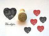 Herz mit Fingerabdruck - mini Stempel