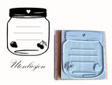 Motivstempel - Marmeladenglas Obst