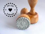 ❤ Mit Liebe handgemacht ❤ Motivstempel