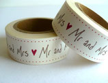 Washi Tape - Mr & Mrs, Handschrift