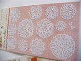 Sticker Spitze, Borte mit Herzen rosa
