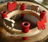 Kerzenkranz in rot/weiß