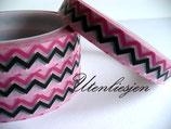 Masking Tape - Zacken, pink + schwarz