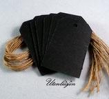 25 Papieranhänger in schwarz