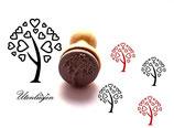 Baum Herzen - midi Stempel