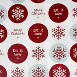 40 Merry Christmas + Let it snow Sticker