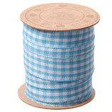Grundpreis pro Meter = 0,75 € - Spule mit 3m Vichy Karoband in verschiedenen Farben