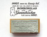 Bonbonglas Gummibärchen, Motivstempel