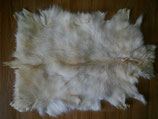 "Medium Beige Goat Hide, Goat skin, Rug, 32"" x 23"""
