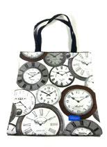 Stoffbeutel Uhren, schwarz