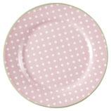 Greengate Dessert Teller Spot pale pink