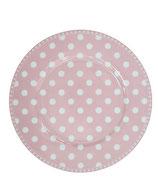 Dessert Teller rosa/Punkte