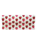 Tischläufer Erdbeeren weiss 35x120cm