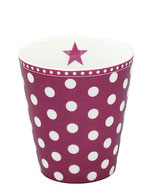Happy Mug Plum/Dots