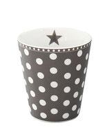 Happy Mug dunkel grau/dots
