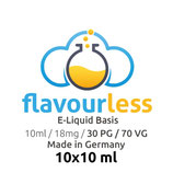VPG Basen-Shot (70/30) 18mg - 10x10ml - flavourless Made In Germany