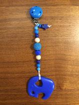 Beissring mit Kette blau
