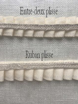 Ruban plissé coton&LIN
