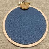Cercle à broder - toile 12 fils - LIN bleu