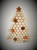 Sapin de Noël en bouchons décorés GM