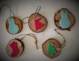 Lot de 5 Boules de Noël