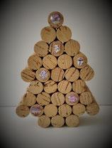 Sapin de Noël en bouchons décorés PM