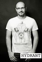 """Herren Shirt Motiv: """"HYDRANT"""" weiß oder schwarz Shirt oder Top"""
