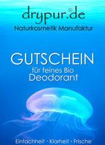 Geschenkgutschein für · 1 Drypur Bio DeoRoller ·