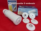 Chourossette 5 embouts dont l' embout spécial pour faire des churros creux + 1 écumoire