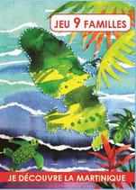 """Jeu de cartes 9 familles """"je découvre la Martinique"""" EPUISE"""