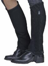 HKM Reitletten Chaps -Nubukimitat mit Elastikeinsatz- schwarz