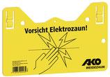Kerbl Weidezaunschild mit Aufhängung -Vorsicht Elektrozaun-
