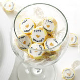 "goldfarbige ""Just Married"" Hochzeitsbonbons"