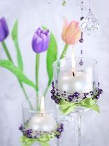 Perlenkette à 5 Stück violette