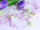 Perlenkette à 5 Stück lavendel