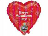 Folienballon Happy Valentins Day