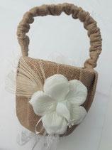 Streukörbchen aus Jute mit Blume