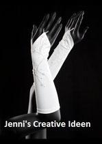 Braut Handschuh mit Blumenranke