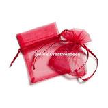 Organzasäckchen - Rot
