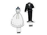 Holzklammern Braut und Bräutigamm