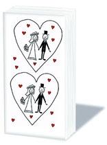 Taschentücher Brautpaar im Herz